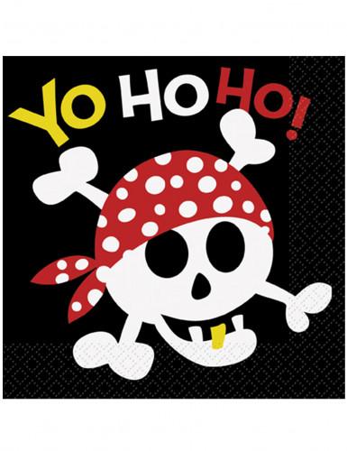 16 tovaglioli di carta pirata sorridente