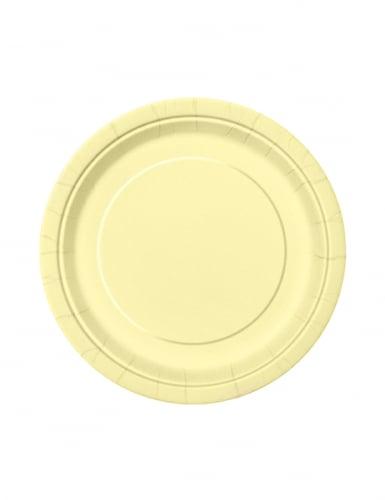 20 piattini di carta rotondi color avorio 18 cm