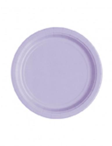 20 piatti di carta piccoli color lavanda 18 cm