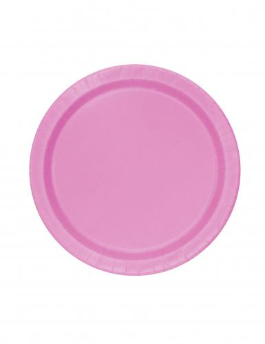 20 piattini rosa in cartone 18 cm