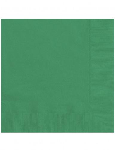 20 tovaglioli color verde smeraldo
