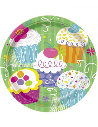 8 Piatti di carta Cupcake Party 23 cm
