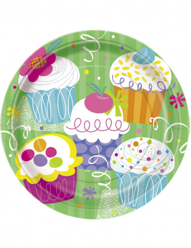 8 Piatti di carta Cupcake Party 23 cm