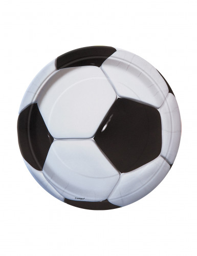 8 Piattini di carta Calcio 18 cm