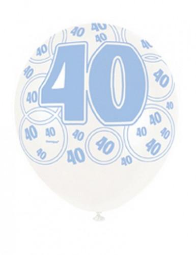Palloncini blu per 40 anni