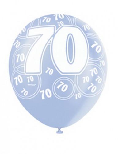 Palloncini blu con numero 70-2