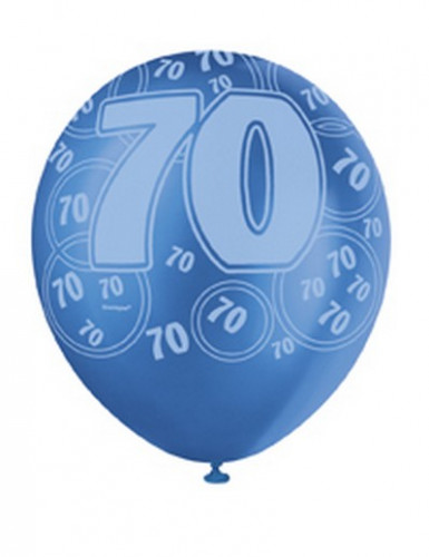 Palloncini blu con numero 70-1