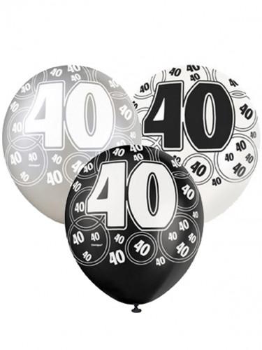 Palloncini 40 anni di colore grigio
