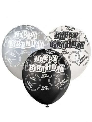 Palloncini con scritta Happy Birthday