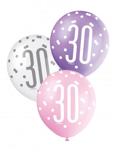 Palloncini rosa per festeggiare i 30 anni