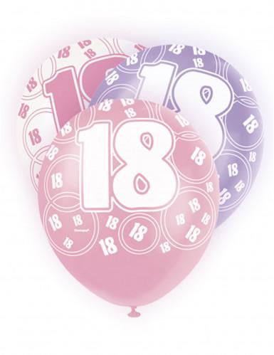 Confezione da 6 palloncini per i 18 anni