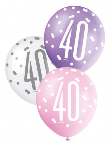 Palloncini color rosa per compleanno 40 anni