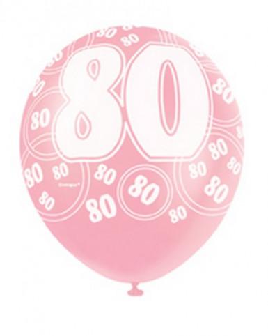 Palloncini rosa per festeggiare 80 anni