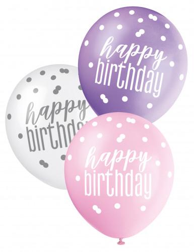 6 palloncini colorati Compleanno