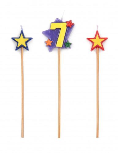 Candele a forma di stelle con numero 7