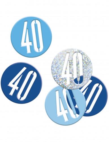 Coriandoli per festa dei 40 anni blu e grigi