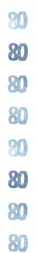 Decorazione da sospendere 80 anni blu