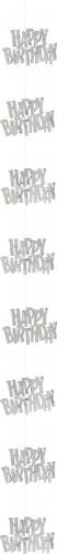 Addobbo da appendere grigio compleanno