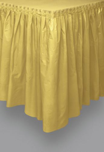 Gonna da tavolo color oro in plastica