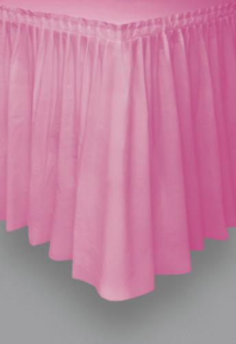 Gonna da tavolo in plastica rosa