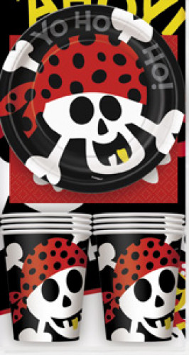 kit per la tavola completo da pirata