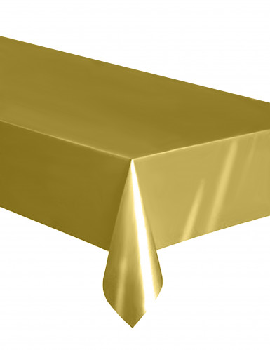 Tovaglia rettangolare in plastica dorata