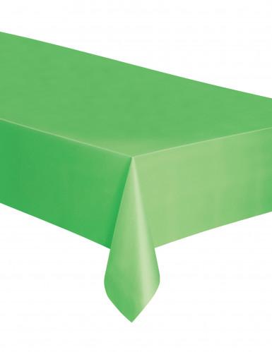 Tovaglia verde rettangolare di plastica