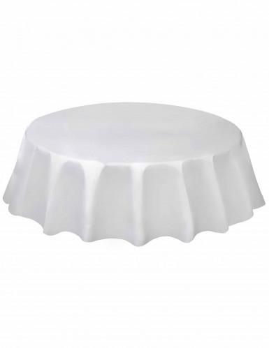 Tovaglia rotonda in plastica bianca
