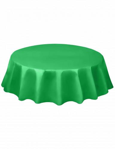 Tovaglia colore verde smeraldo tonda
