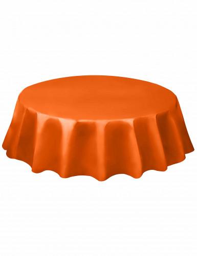 Tovaglia di plastica arancione per tavola rotonda