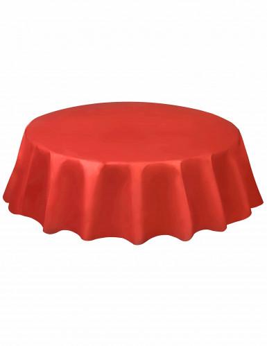 Tovaglia rotonda monouso in plastica rossa