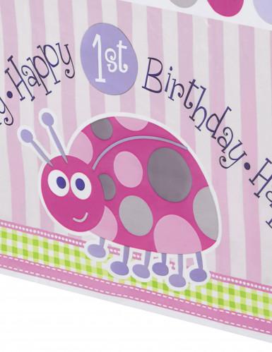 Tovaglia primo compleanno rosa-1