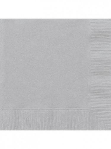 Lotto di 50 tovaglioli di carta grigi