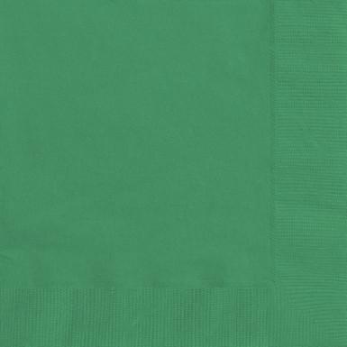 50 Tovaglioli di carta Verde smeraldo 33 x 33 cm