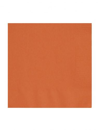 50 tovaglioli di carta colore arancione