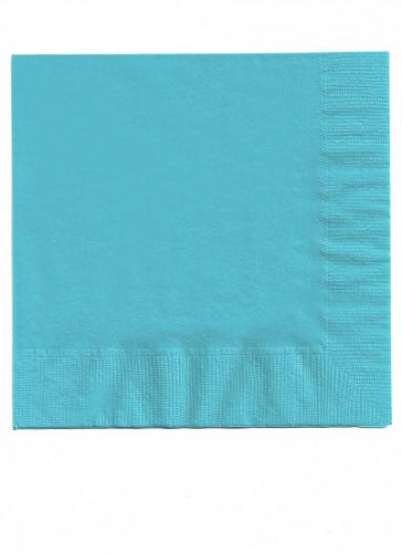 50 tovaglioli di carta blu caraibi 33 x 33 cm