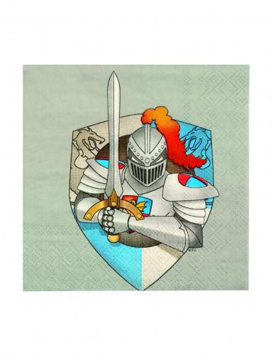 Pacco di 12 tovaglioli di carta con cavaliere