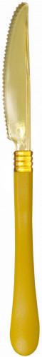 10 coltelli in plastica gialla