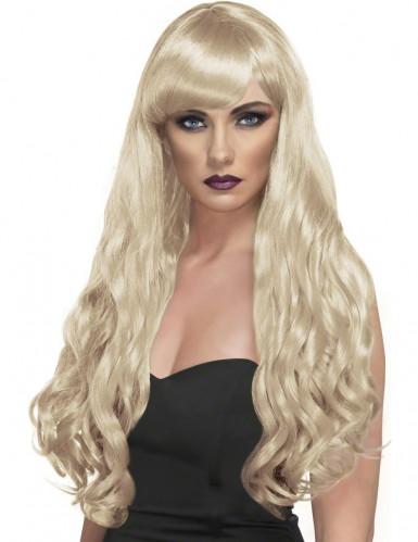Parrucca ondulata bionda e lunga da donna