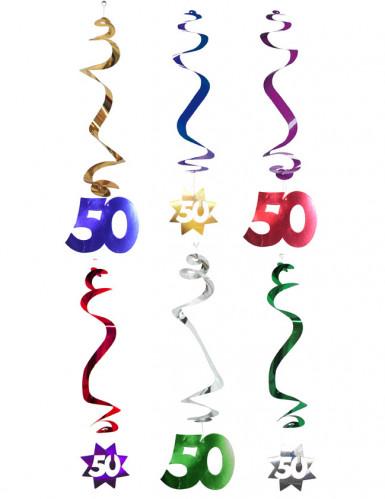 6 ghirlande verticali a spirale 50 anni