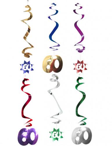 6 decorazioni a spirale da appendere 60 anni