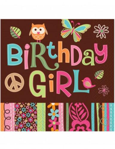 16 tovaglioli di carta compleanno hippie