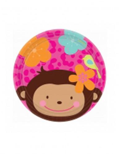 8 Piattini un amore di scimmietta