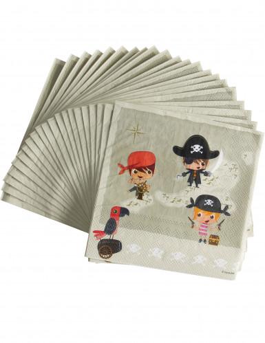 20 tovaglioli in carta Pirata 33 x 33 cm