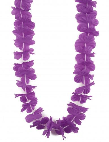 Collana hawaiana con fiori viola