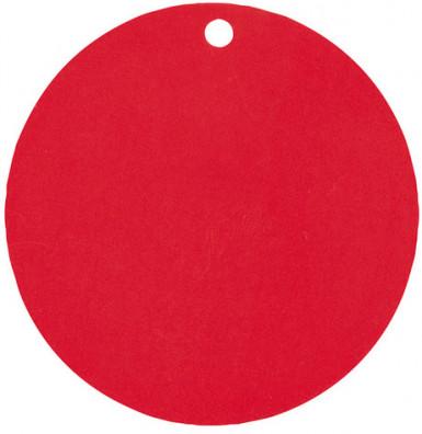 10 segnaposto in cartoncino rosso