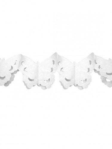 Ghirlanda in carta farfalla bianca