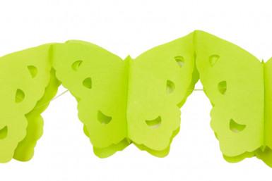 Ghirlanda di carta verde a papillon