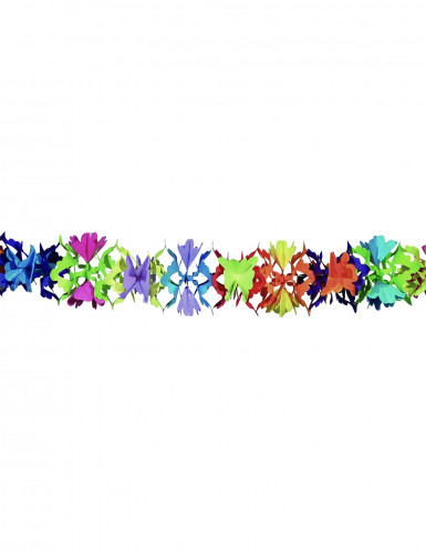 Ghirlanda di carta colorata fantasia floreale