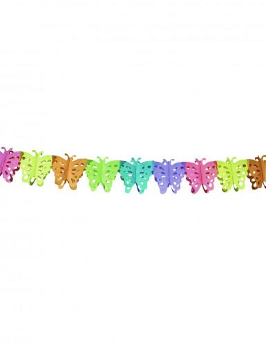 Ghirlanda di carta con farfalle da appendere